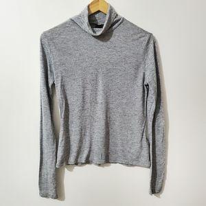 VERO MODA Knit Turtleneck Long Sleeve Gray Size S